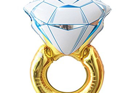 Diamond Engagement Ring Foil Mylar Balloon 1pc