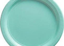 Robin's Egg Blue Paper Lunch Plates 8ct