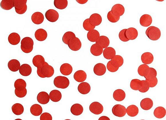 Red Circle Confetti -medium