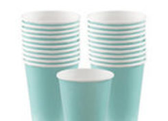 Robin's Egg Blue Paper Cups 8ct
