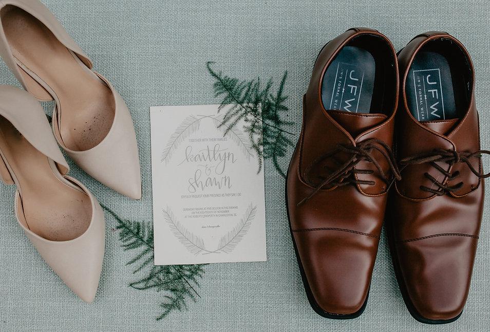 Charleston Weddings Marisa Romagnuolo Shoes Details Invitation