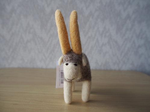 キルギス羊毛フェルト 動物マスコット アルガリM