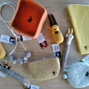 キルギス羊毛フェルトminneで販売開始