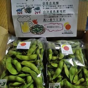 ポケットマルシェで枝豆の初注文