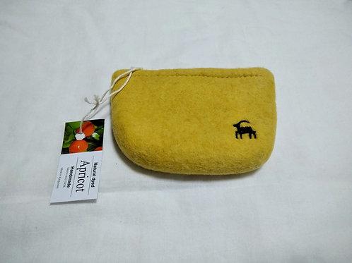 キルギス羊毛フェルト キーケース 草木染め/アプリコット(送料込み)