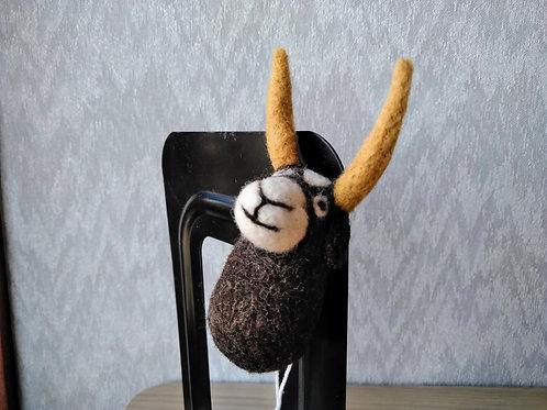 キルギス羊毛フェルト 動物マグネット ヤク(送料込み)