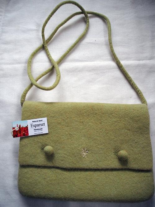 キルギス羊毛フェルト 肩掛けバッグ 草木染め/エスパルセット(送料込み)