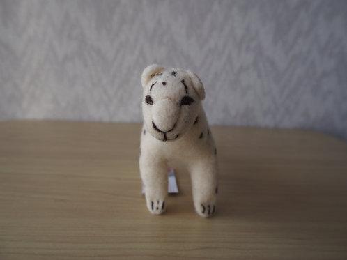 キルギス羊毛フェルト  動物マスコット 雪豹M(送料込み)