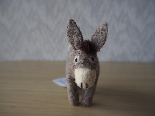 キルギス羊毛フェルト 動物マスコット ロバS(送料込み)