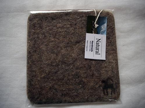 キルギス羊毛フェルト コースター 草木染め/エスパルセット