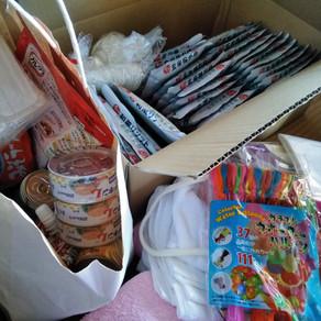 台風被害支援物資がたくさん届いた