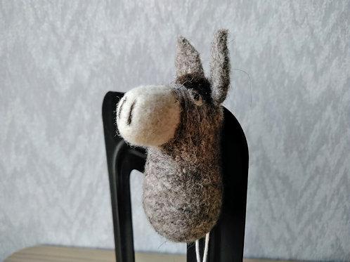 キルギス羊毛フェルト 動物マグネット ロバ(送料込み)