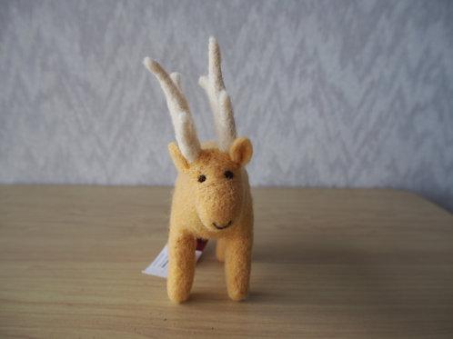 キルギス羊毛フェルト 動物マスコット 鹿M