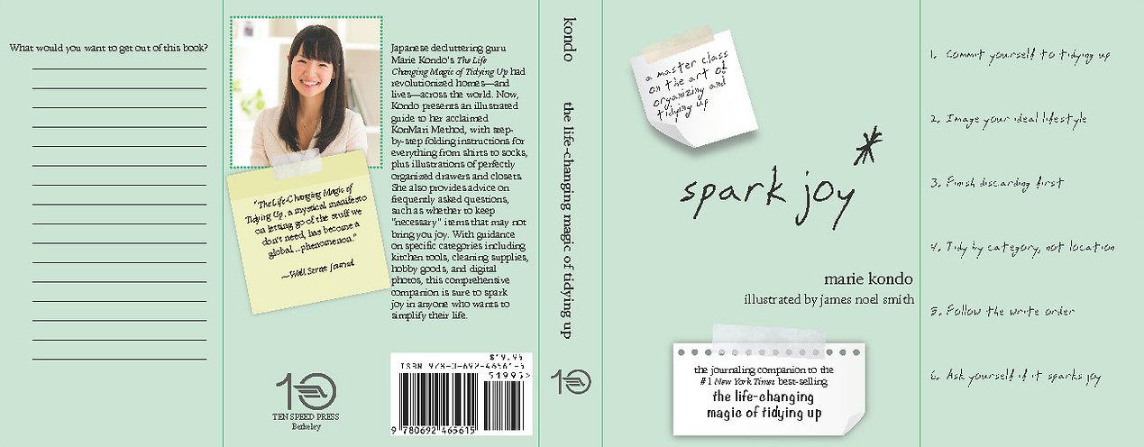 Spark Joy - Book Dust Jacket Redesign