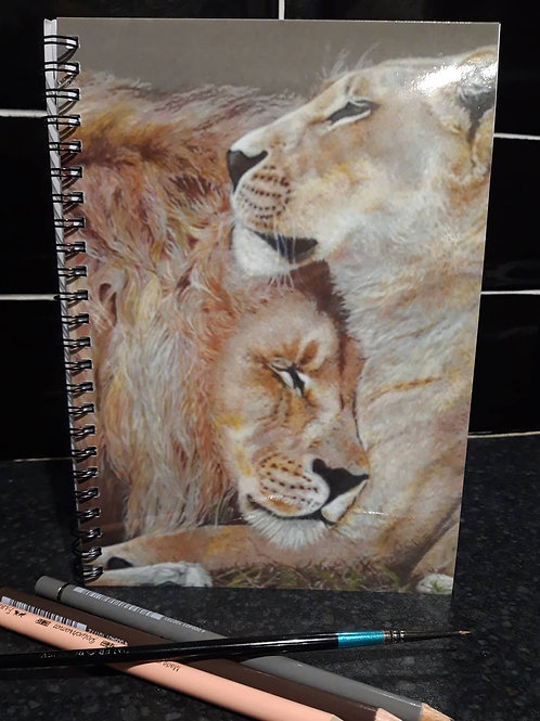 Lions in love Notebook