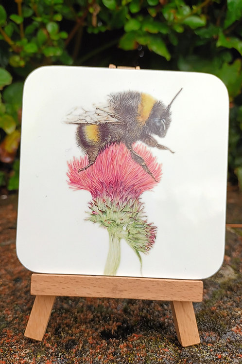 Mrs Bee coaster