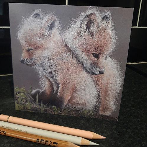 Baby Fox's Greeting card