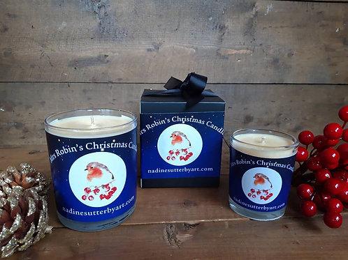 Mrs Robins Christmas Candle