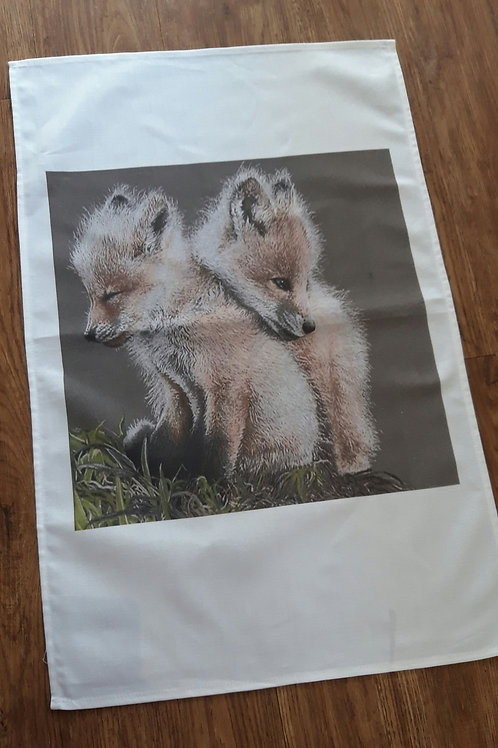 Baby Fox's Tea towel