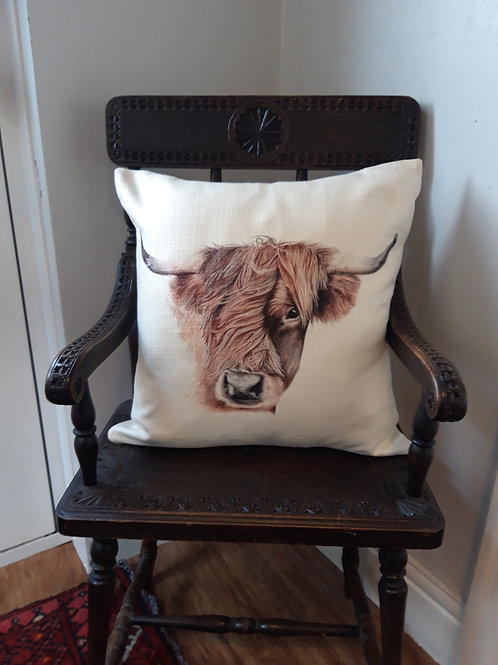'Morag' Rustic textured cushion