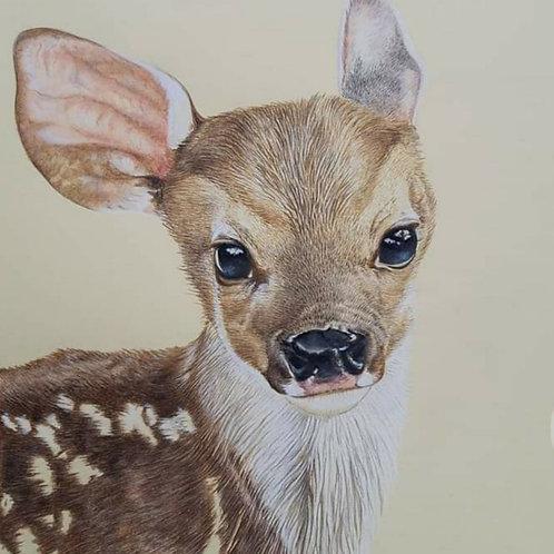 """ Bambi "" Giclee print"