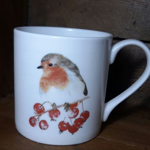 Mrs Robin fine bone china mug
