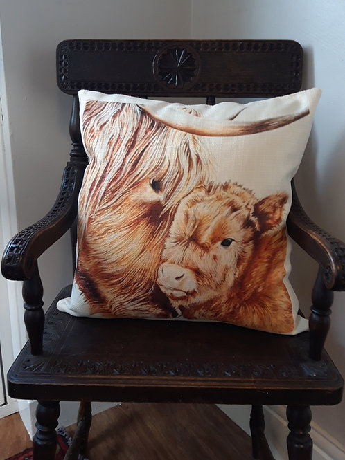 Mother & Baby Rustic cushion