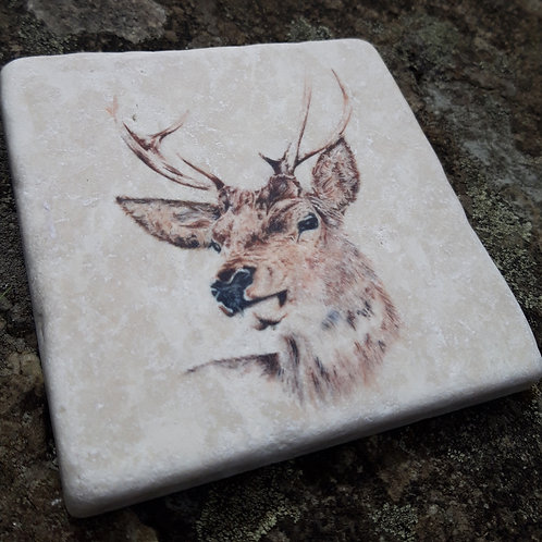 Stag Marble coaster