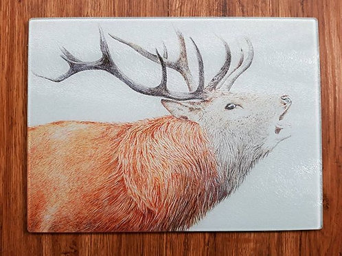 Stag Glass chopping board