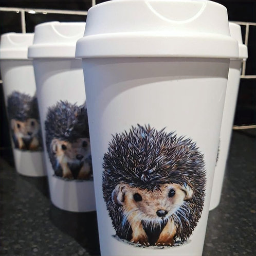 Conker the hedgehog travel mug