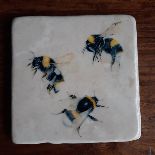 Busy Bee marble coaster