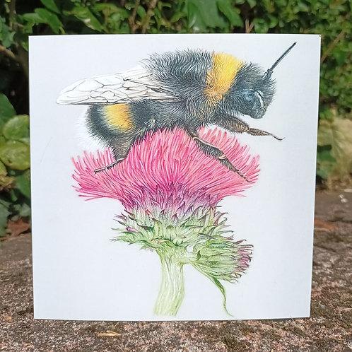 Mrs Bee Greeting card
