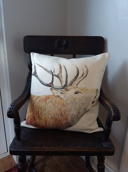 Mr Stag Rustic textured cushion
