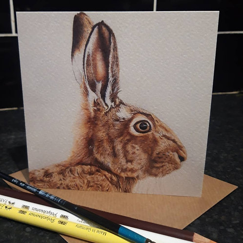 Mr Hare Greeting card