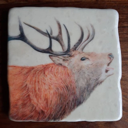 Mr Stag Marble coaster
