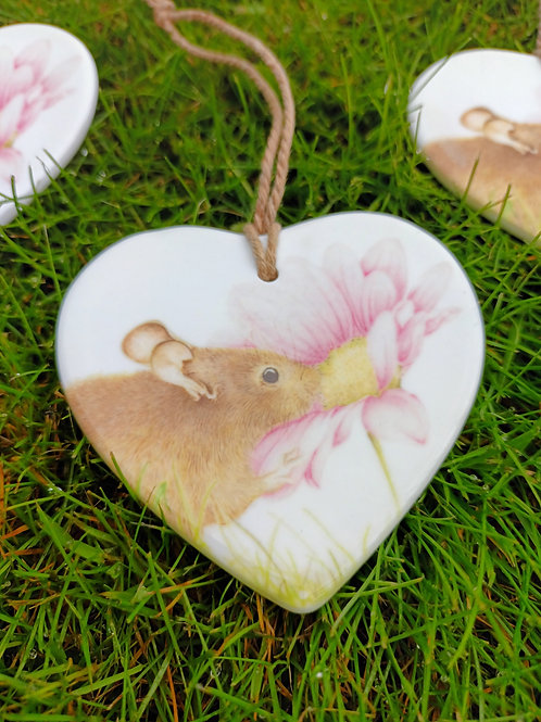 Little mouse Ceramic heart