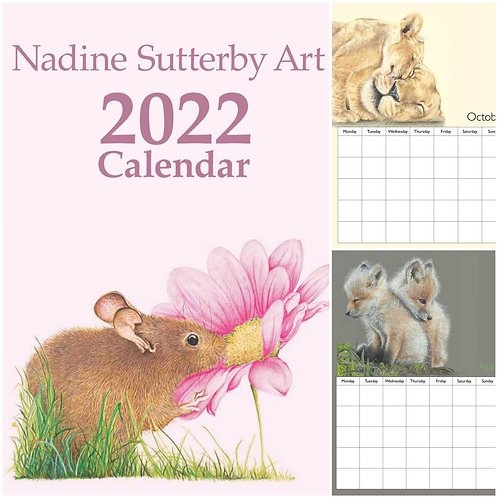 Nadine Sutterby Art  2022 calendar