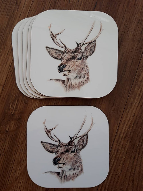 Mr Stag Coaster