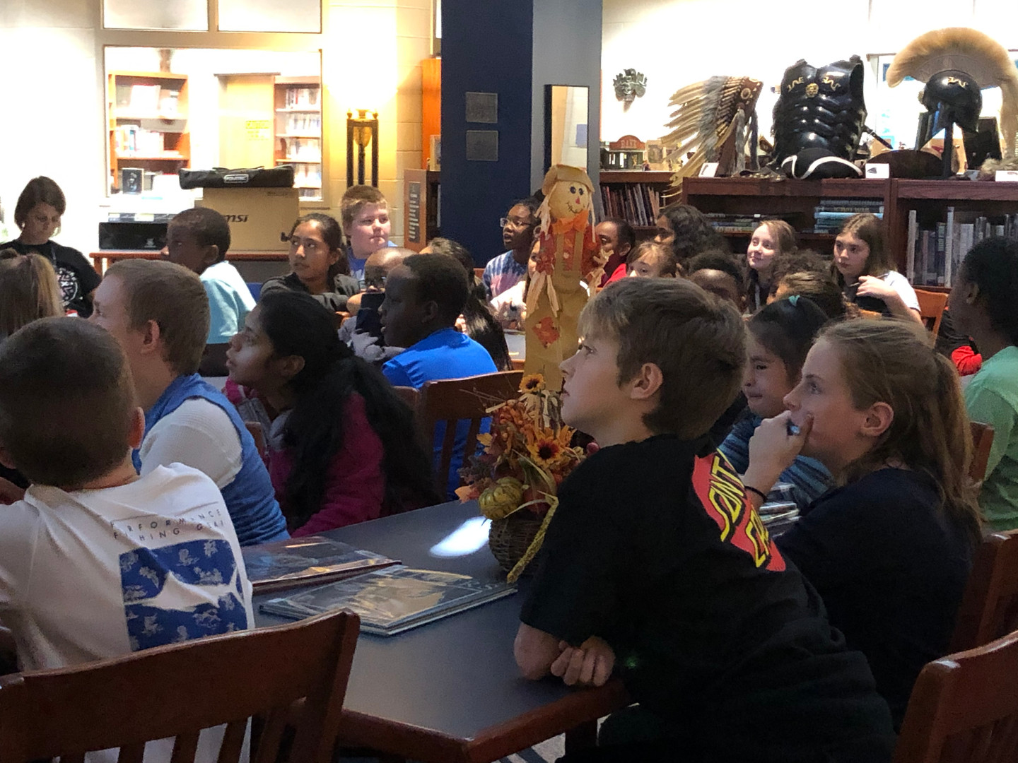 Students Skyping with a Scientist
