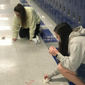 Peer Tutors Clean up after the Robot Perimeter Project