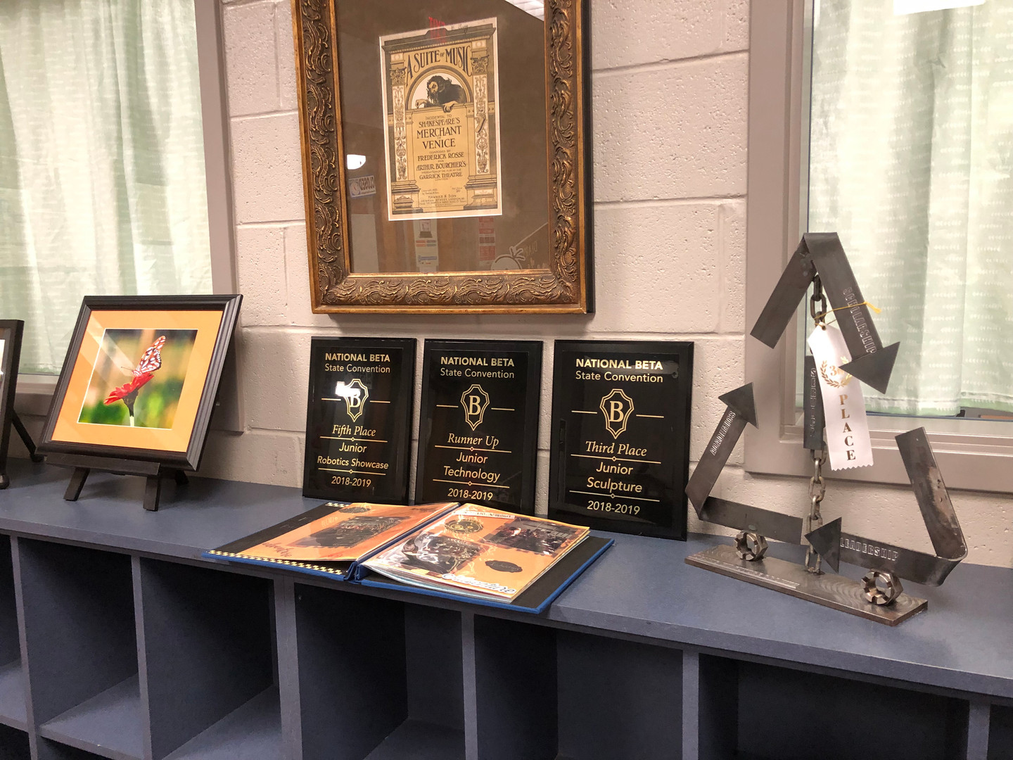 BETA Awards on Display in Library
