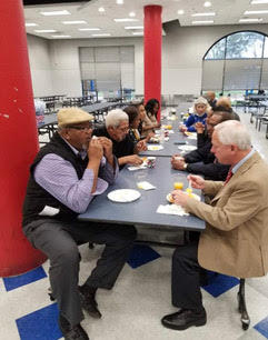 Breakfast in Cafeteria with Guests