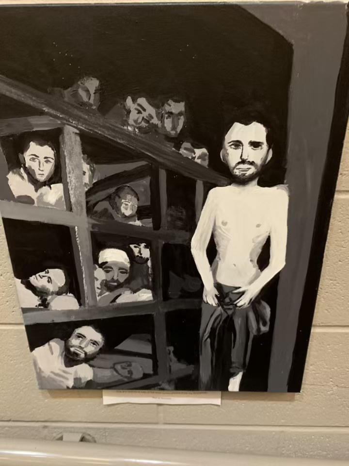 Holocaust Drawing by Student