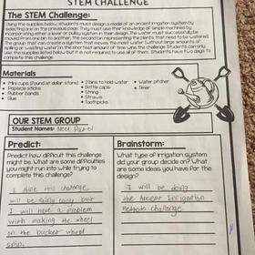 Ancient Irrigation S.T.E.M. Challenge