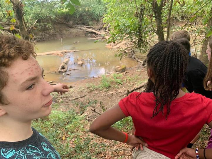 Taking Samples of Creeks' Water
