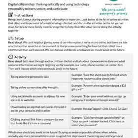 Digital Citizenship Family Activity