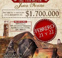 Comenzó la cuenta regresiva para la Búsqueda del Tesoro de Juan Fariña