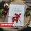Thumbnail: Red Deer Keepsake Christmas Card Personalised With Any Text Of Your Choice