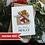 Thumbnail: Christmas Card For Her, Handmade Santa Stocking Unique Card
