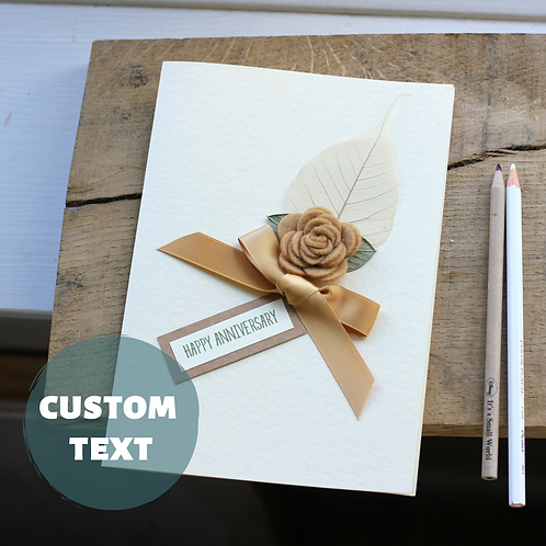 Personalised Golden Anniversary Card, Luxury Handmade Card for Parents